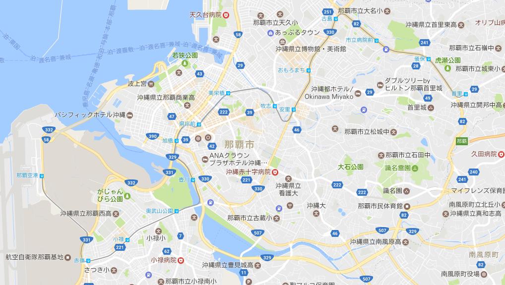 沖縄県「ゆいレール」路線 マップ