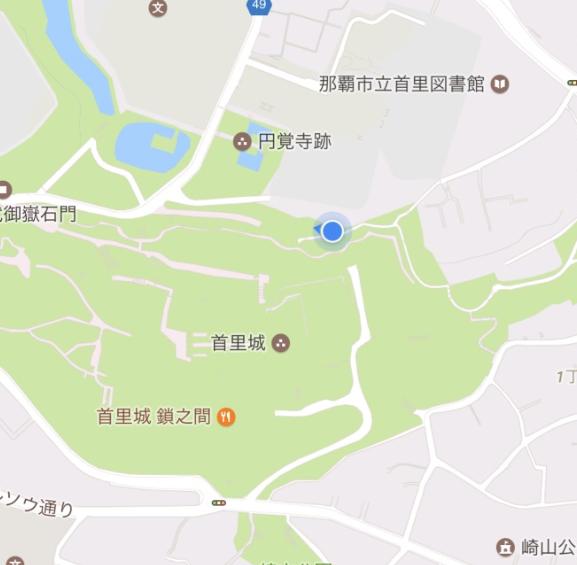 沖縄県 首里城公園 合流点 マップ