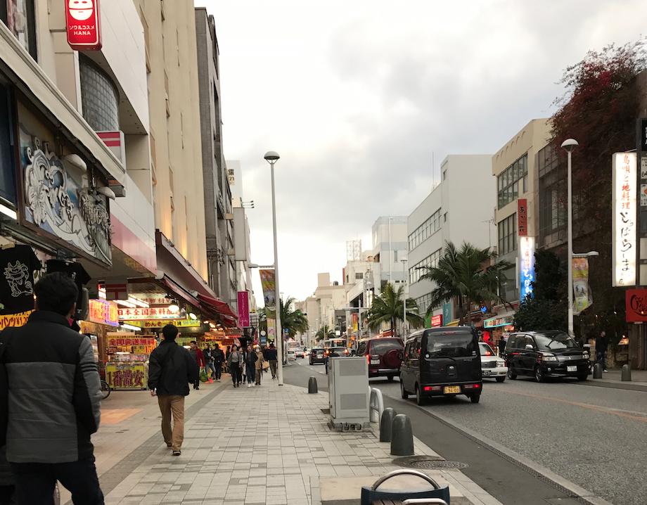 沖縄県 国際通り 2月