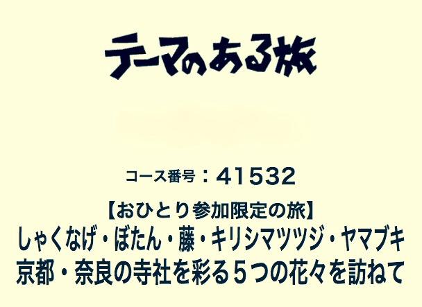 クラブツーリズムさんの 関西のお花の名所を巡るツアー「しゃくなげ・ぼたん・藤・キリシマツツジ・ヤマブキ 京都・奈良の寺社を彩る5つの花々を訪ねて」