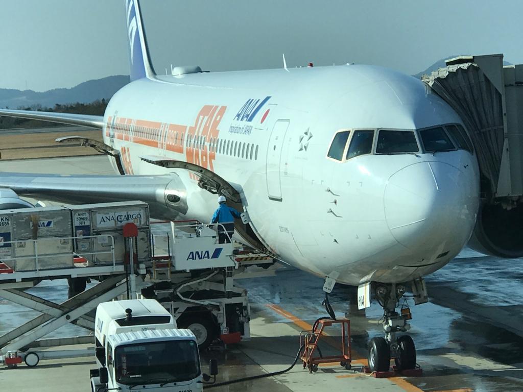 ANA671便 ANA STAR WARS JETS 広島空港
