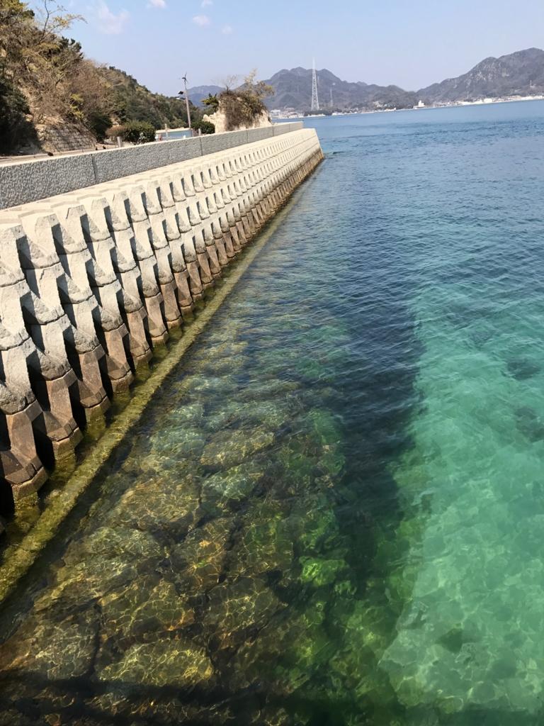 広島県 大久野島 第2桟橋付近の海