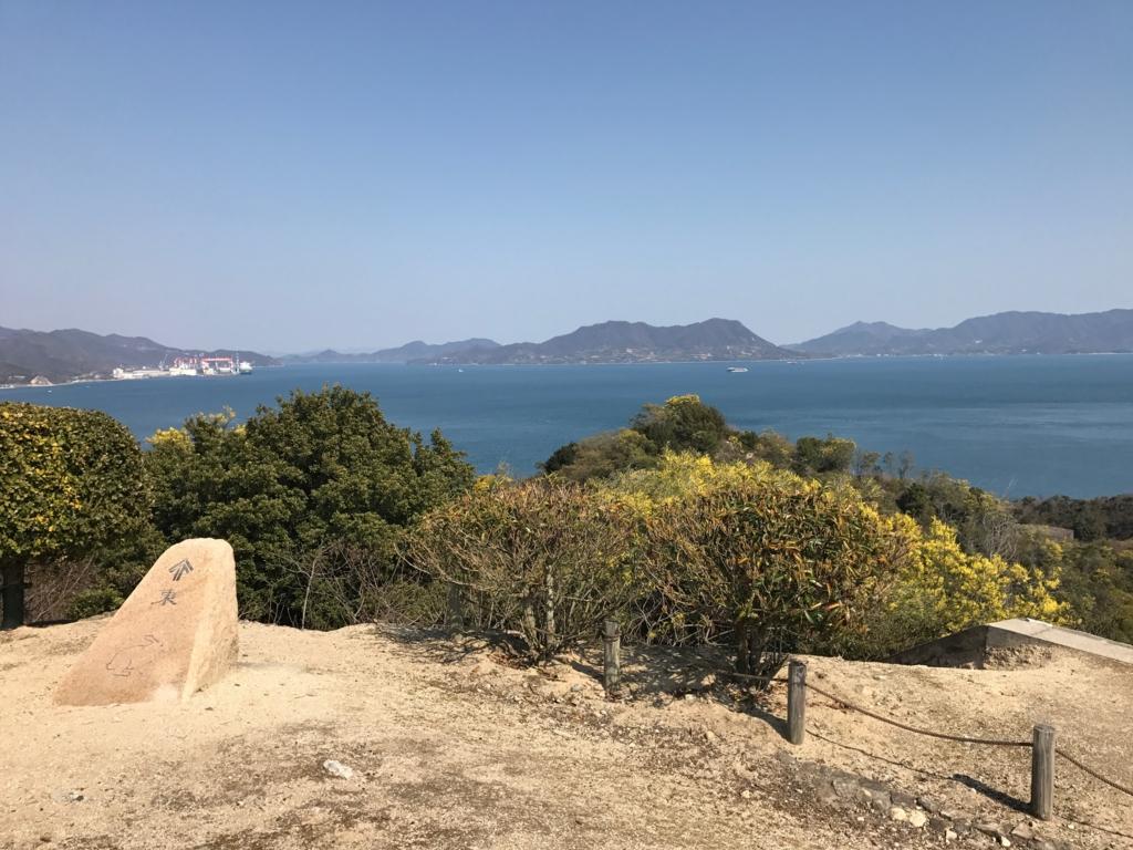 広島県 うさぎ島(大久島)展望台 からの景色