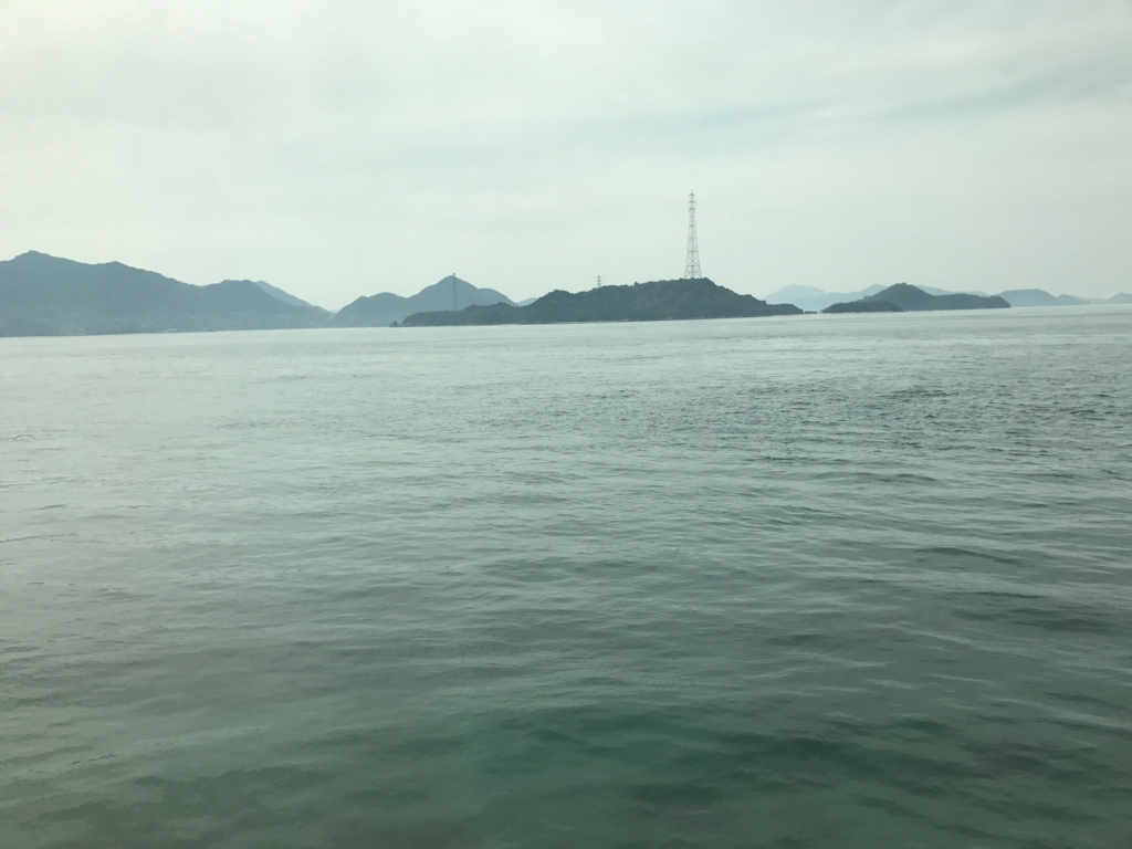 JR呉線 忠海駅から 車窓の風景 「しまなみ海道」