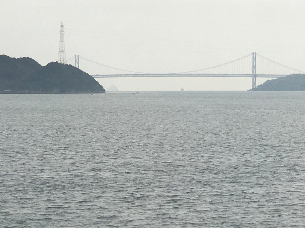 JR山陽線 三原からの車窓の風景 「しまなみ海道」