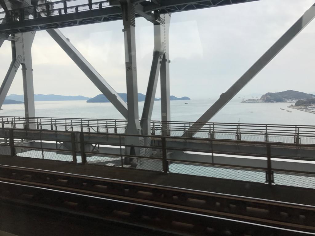 JR予讃線 岡山-松山 「しおかぜ」瀬戸大橋 通過中