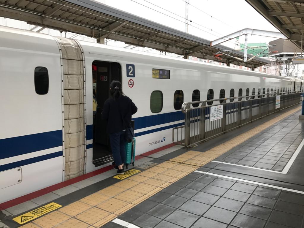 JR岡山駅 新幹線のぞみ 到着 自由席車両