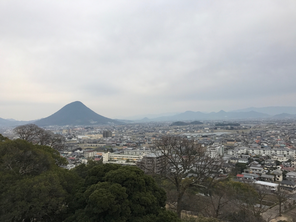 香川県 丸亀城 本丸からの風景