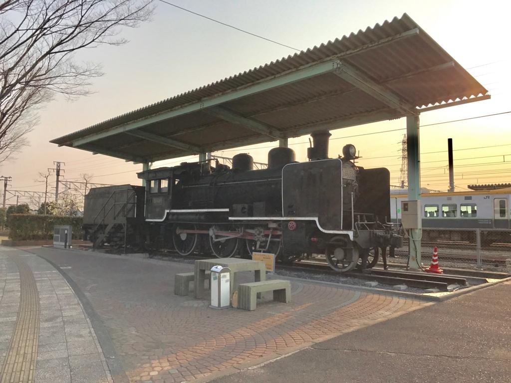 香川県 多度津駅 8620形蒸気機関車(ハチロク) 展示