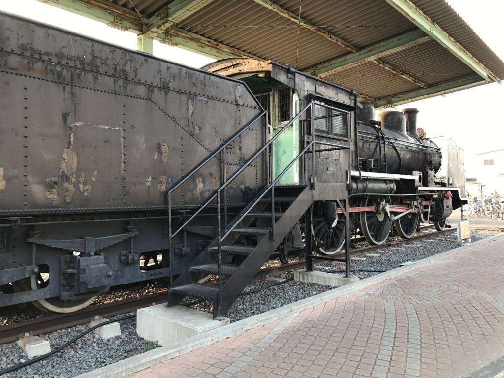 香川県 JR多度津駅 8620形蒸気機関車(ハチロク) 運転席へ