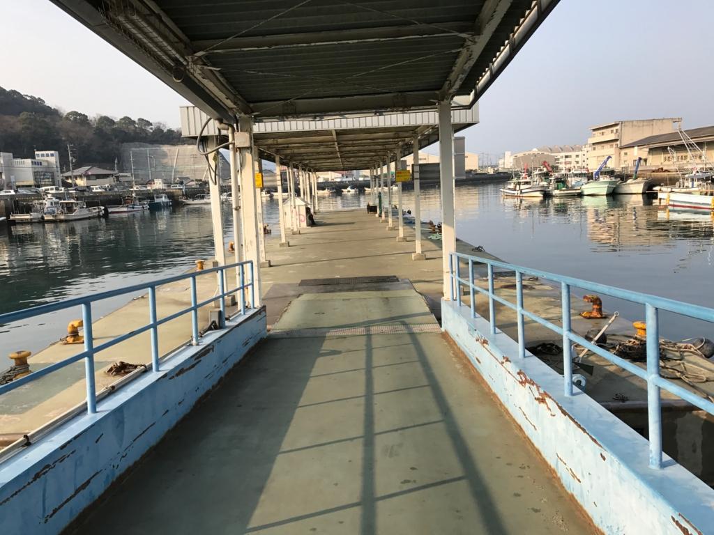香川県 JR多度津港 桟橋