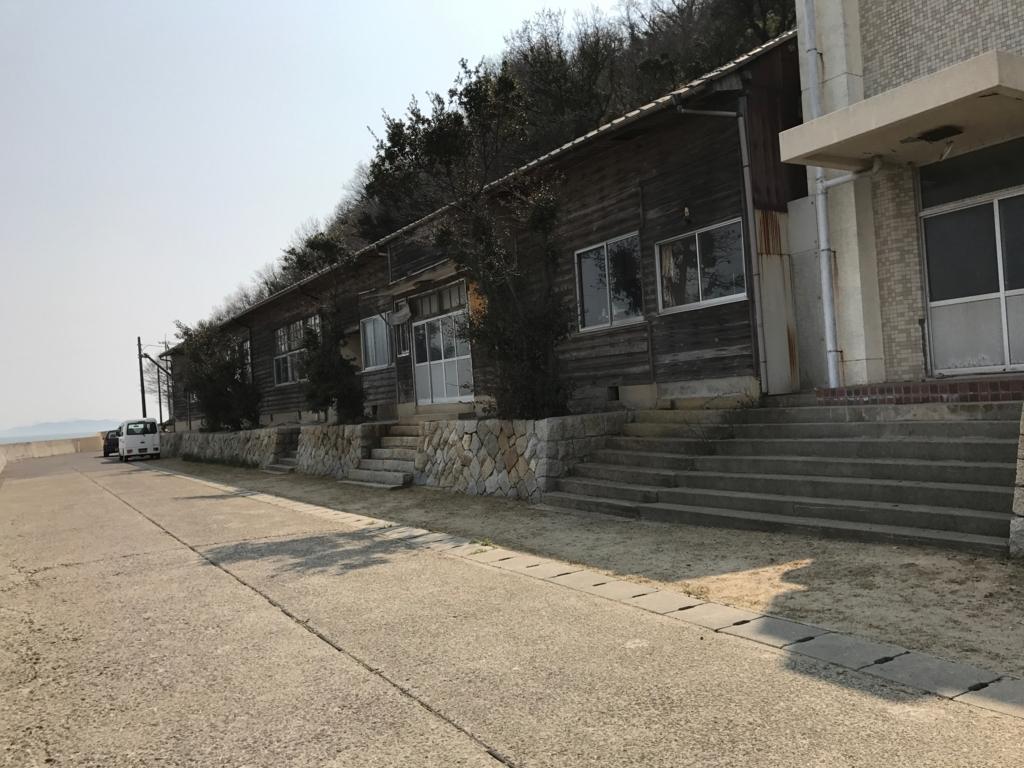 香川県 佐栁島(ねこ島) 廃校 「体験センター」