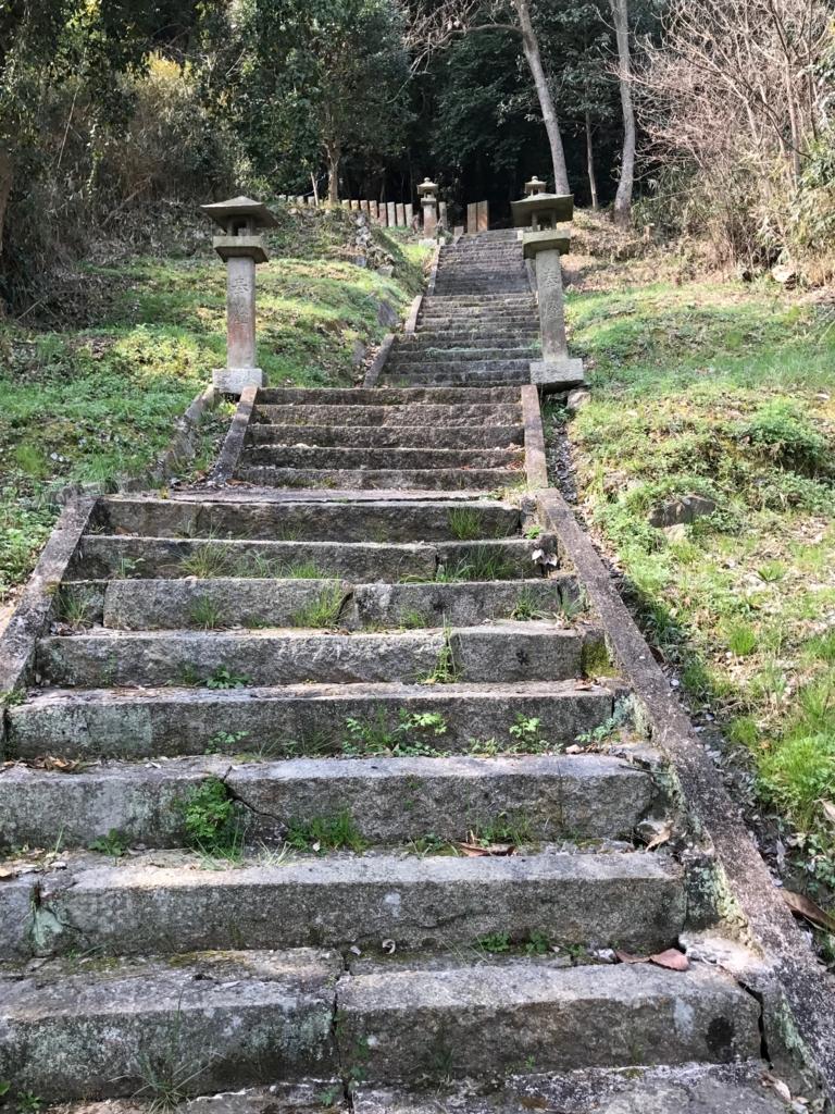 香川県 佐柳島(ねこ島)「大天神社」お参り道 後半の階段道