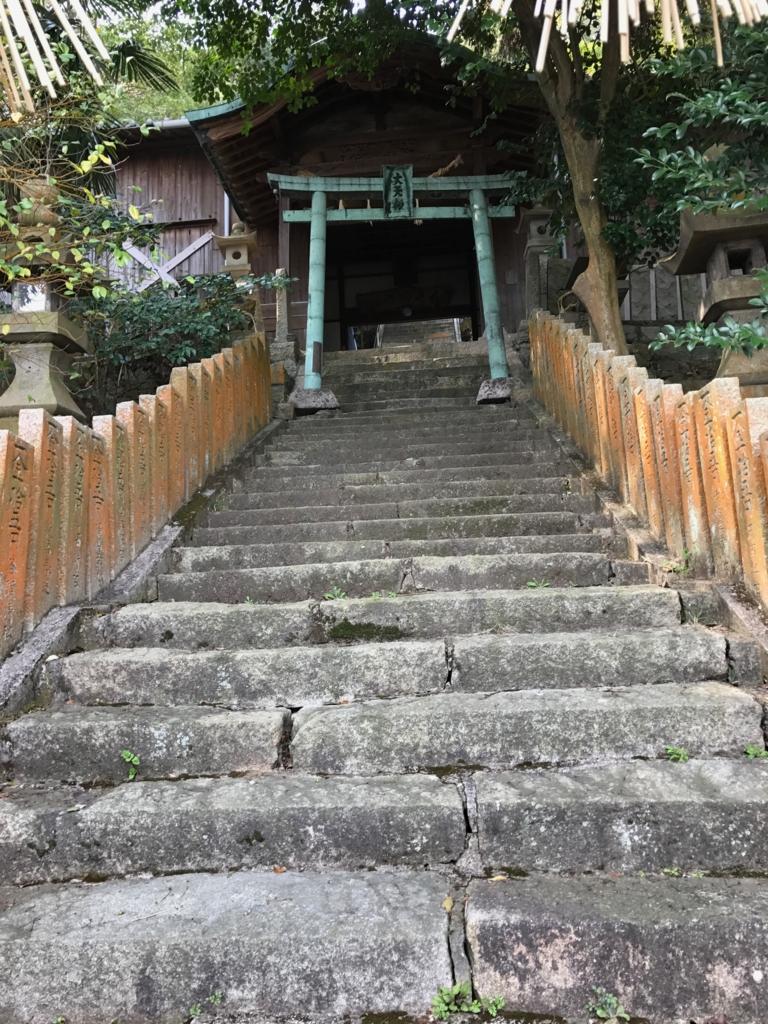香川県 佐柳島(ねこ島)「大天神社」鳥居