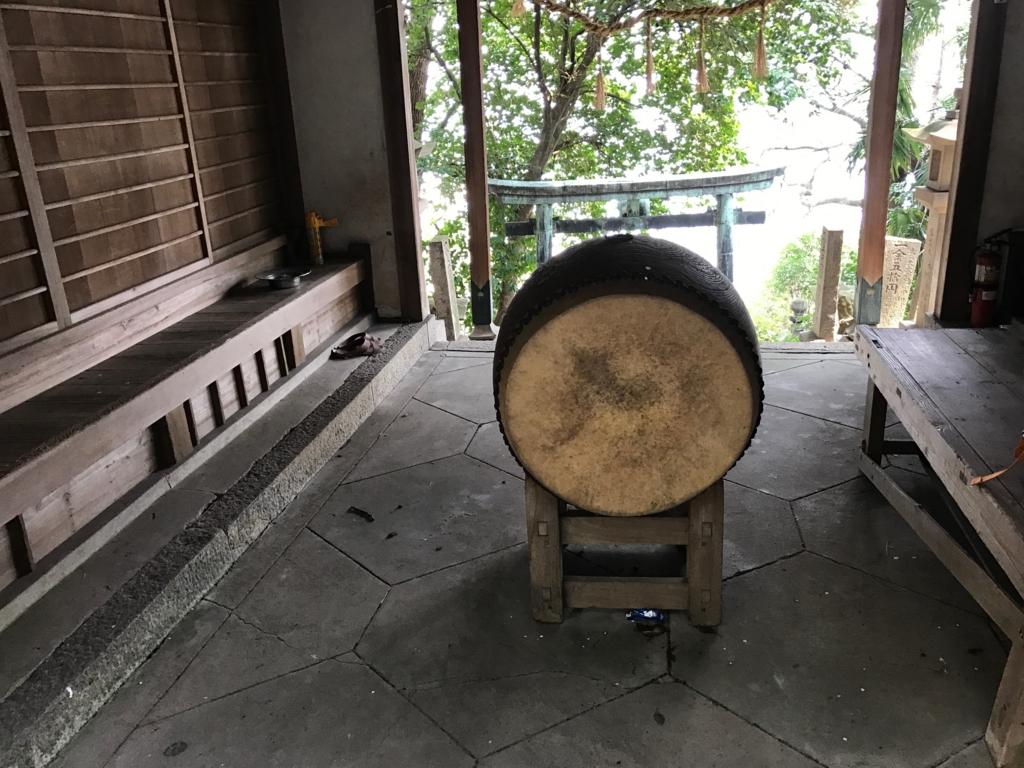 香川県 佐柳島(ねこ島)「大天神社」太鼓