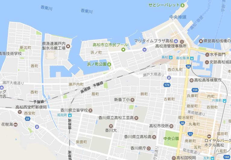 JR高松駅 周辺マップ