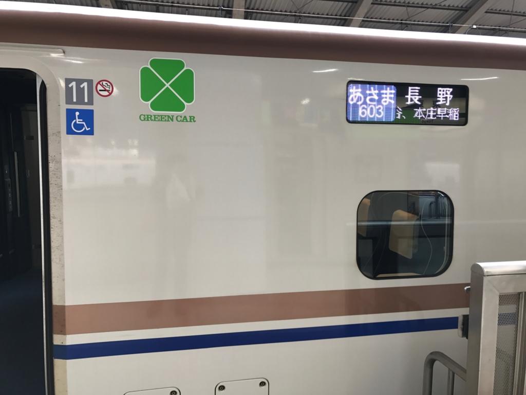 「あさま603号」出発 東京駅ホーム 23番線 到着