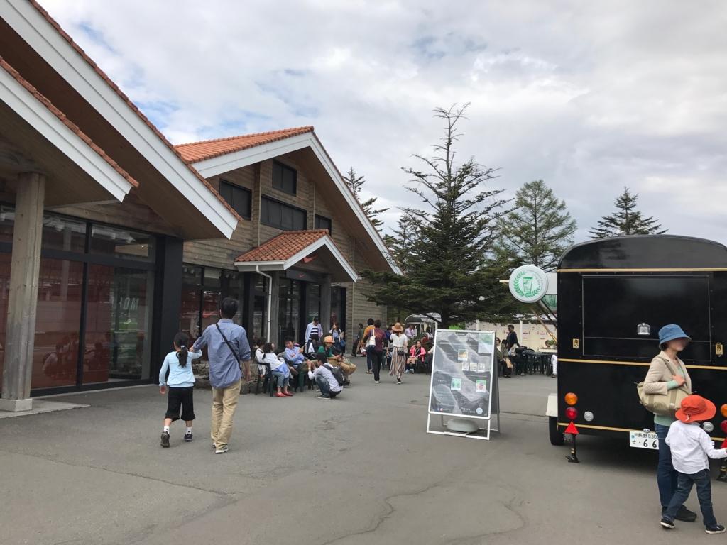 軽井沢のアウトレット(プリンスショッピングプラザ)開店前