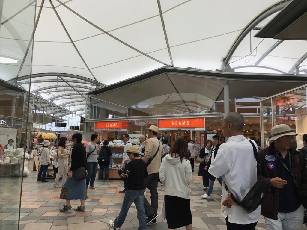 軽井沢のアウトレット(プリンスショッピングプラザ)ゴールデンウイーク10時半ごろ ニューイースト