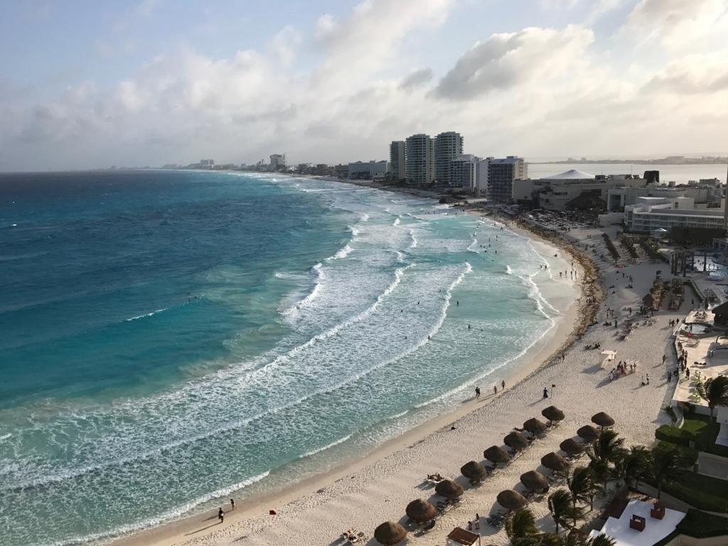 カンクーン 宿泊先「Krystal Grand Punta Cancun」部屋からの景色