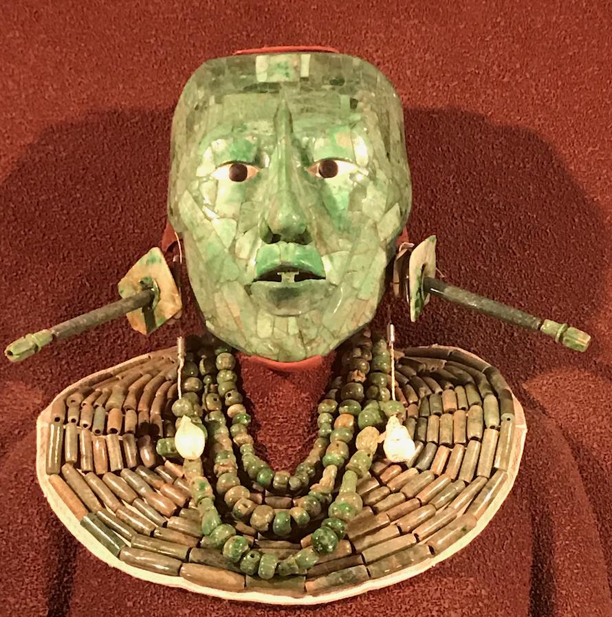 国立人類博物館 貯蔵 パレンケ遺跡出土 「パカル王の翡翠のマスク」
