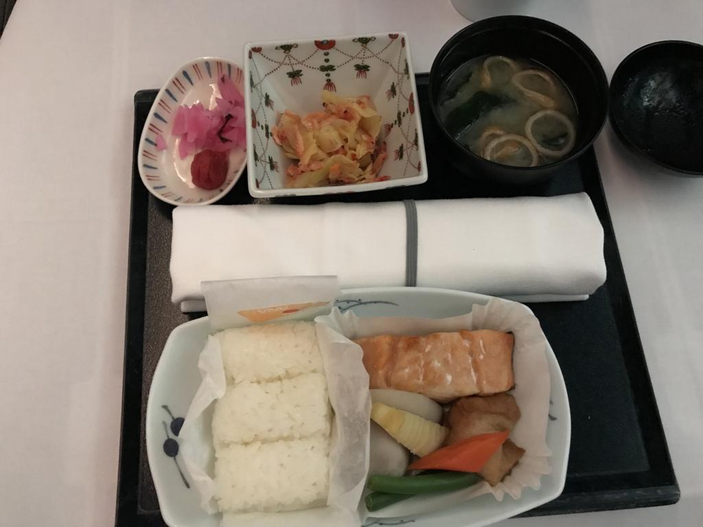 H180便 ビジネスクラス 朝食 和食