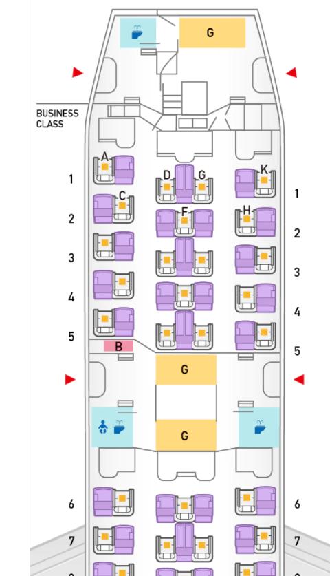 788型 ビジネスクラス 座席マップ