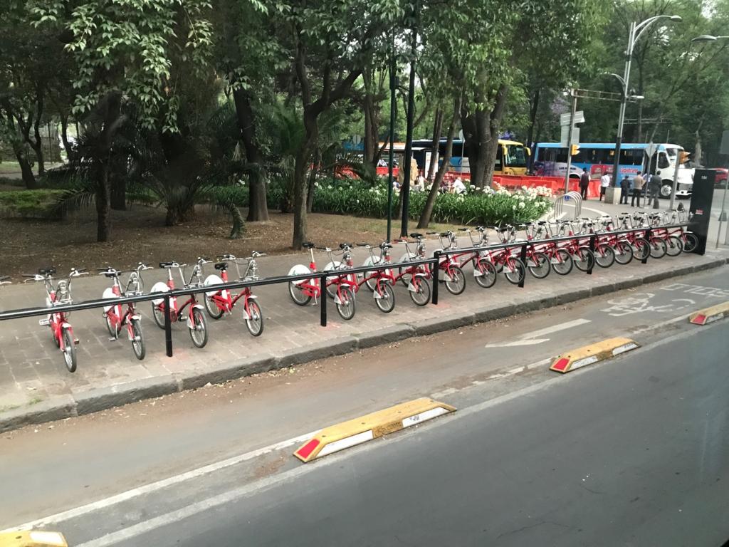 メキシコシティ 国立人類博物館付近 レンタル自転車