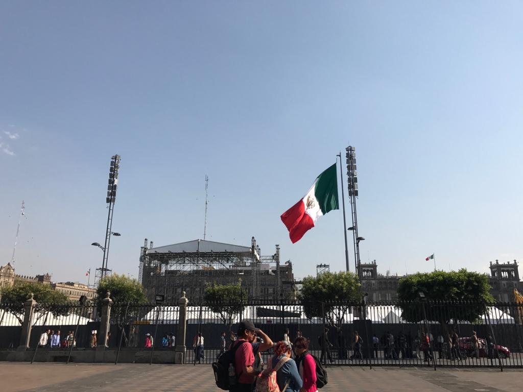 メキシコシティ 工事中のソカロ広場