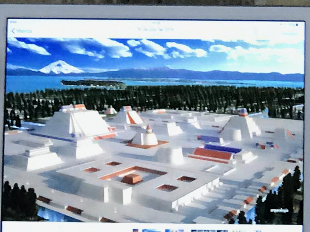 メキシコシティ テンプロ・マヨール遺跡 アステカ時代 予想都市模型図