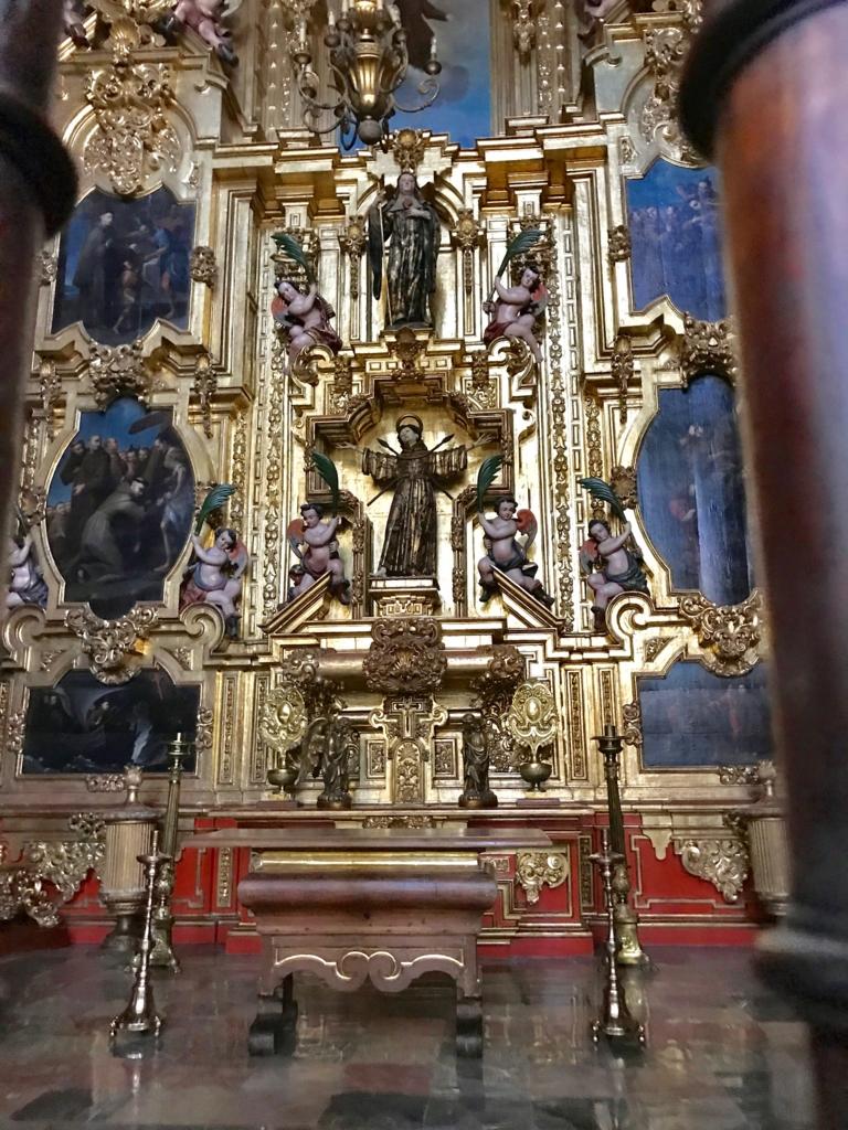 メキシコシティ メトロポリタン大聖堂 黄金の祭壇