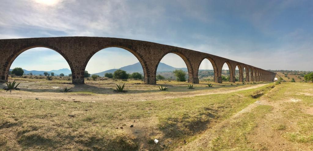 メキシコ 世界遺産 テンプレケ水道橋 パノラマ