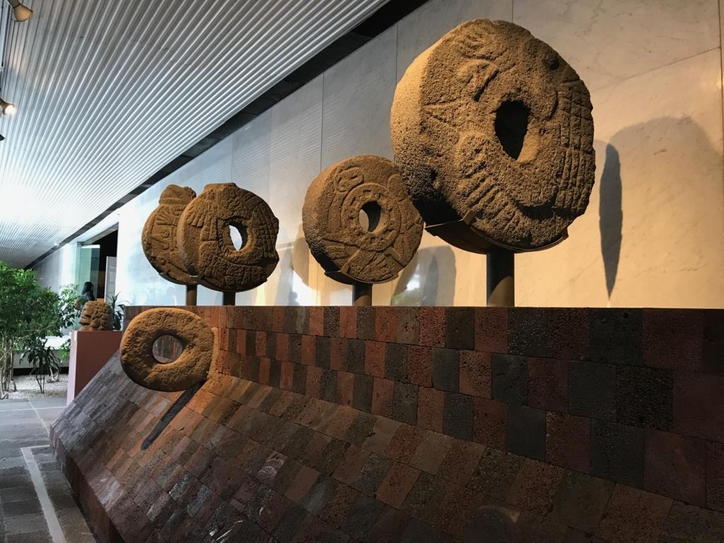 メキシコシティ 「国立人類学博物館 トルテカ室」球技場ゴール