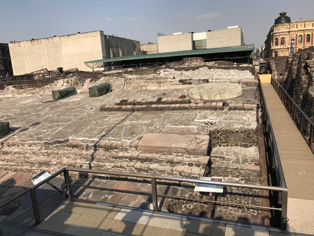 メキシコシティ テンプロ・マヨール遺跡 隣接した博物館