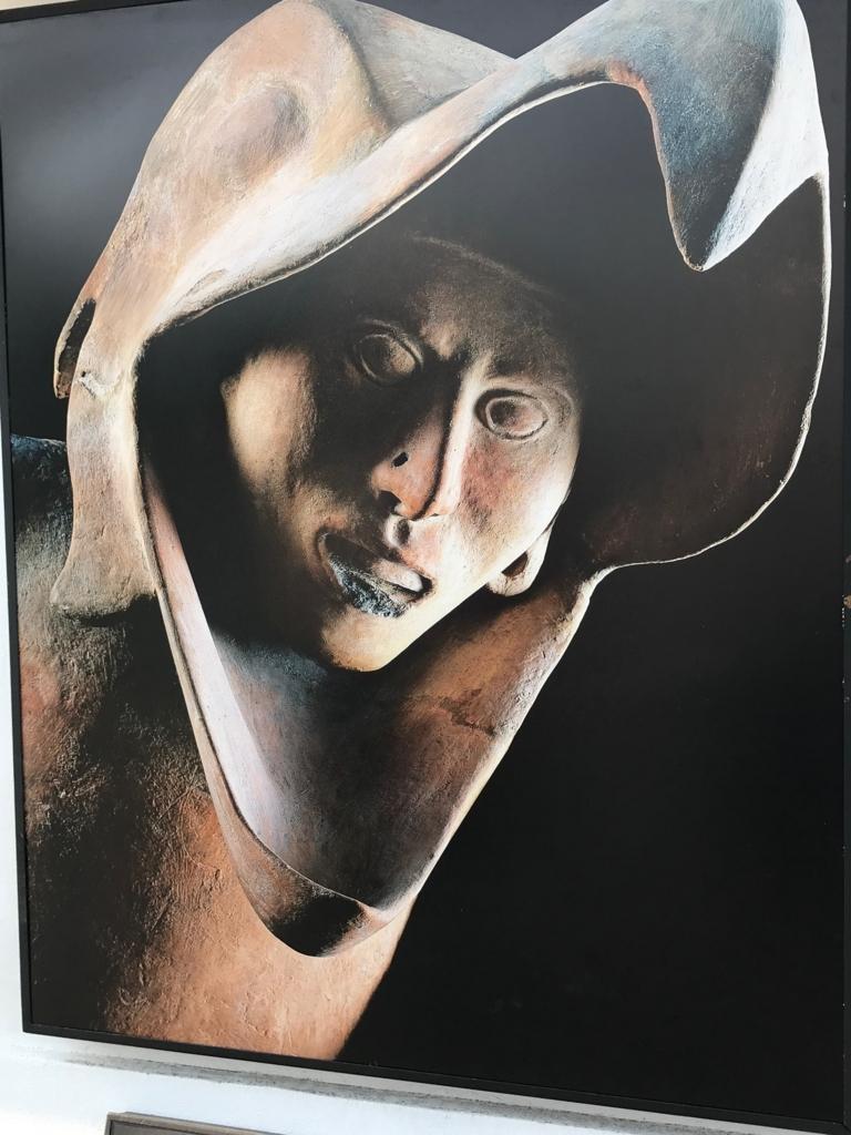 メキシコシティ テンプロ・マヨール遺跡前の写真 鷲の戦士