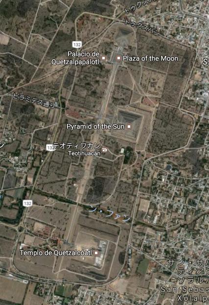 メキシコ テオティワカン遺跡 マップ
