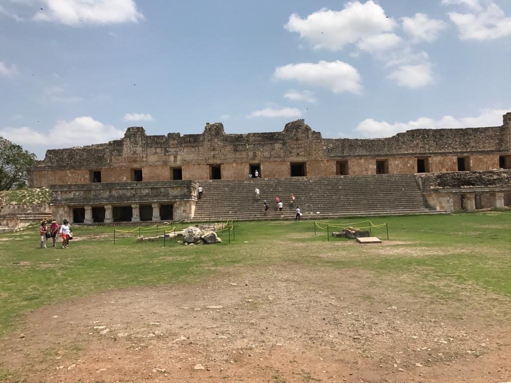 メキシコ ウシュマル遺跡 尼僧院 北側