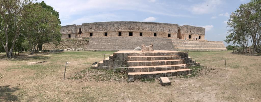 メキシコ ウシュマル遺跡 総督の宮殿 パノラマ