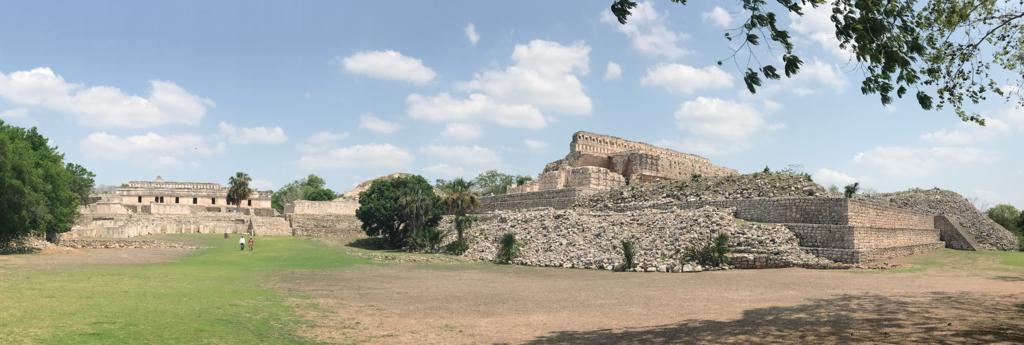 メキシコ カバー遺跡 パノラマ