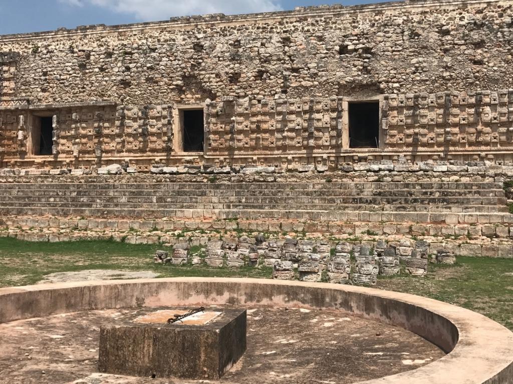 メキシコ カバー遺跡 「コズ・ポープ」貯水槽