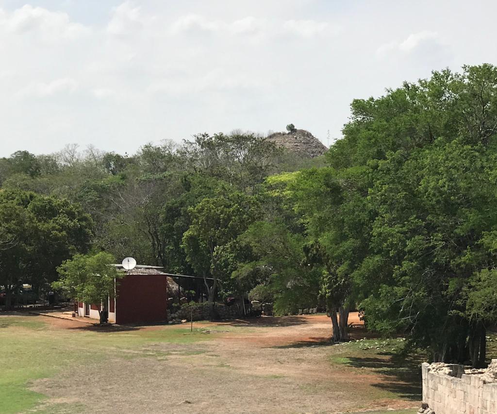 メキシコ カバー遺跡 未発掘のピラミッド(禿山)