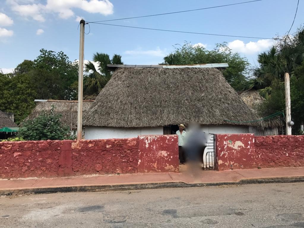 メキシコ サンタ・エレーナ村 マヤ人末裔の方の家 訪問