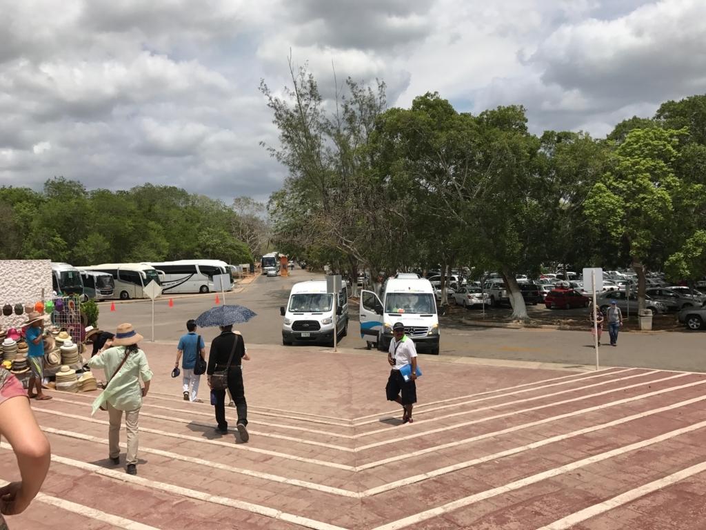 メキシコ チチェン・イッツァ遺跡 駐車場