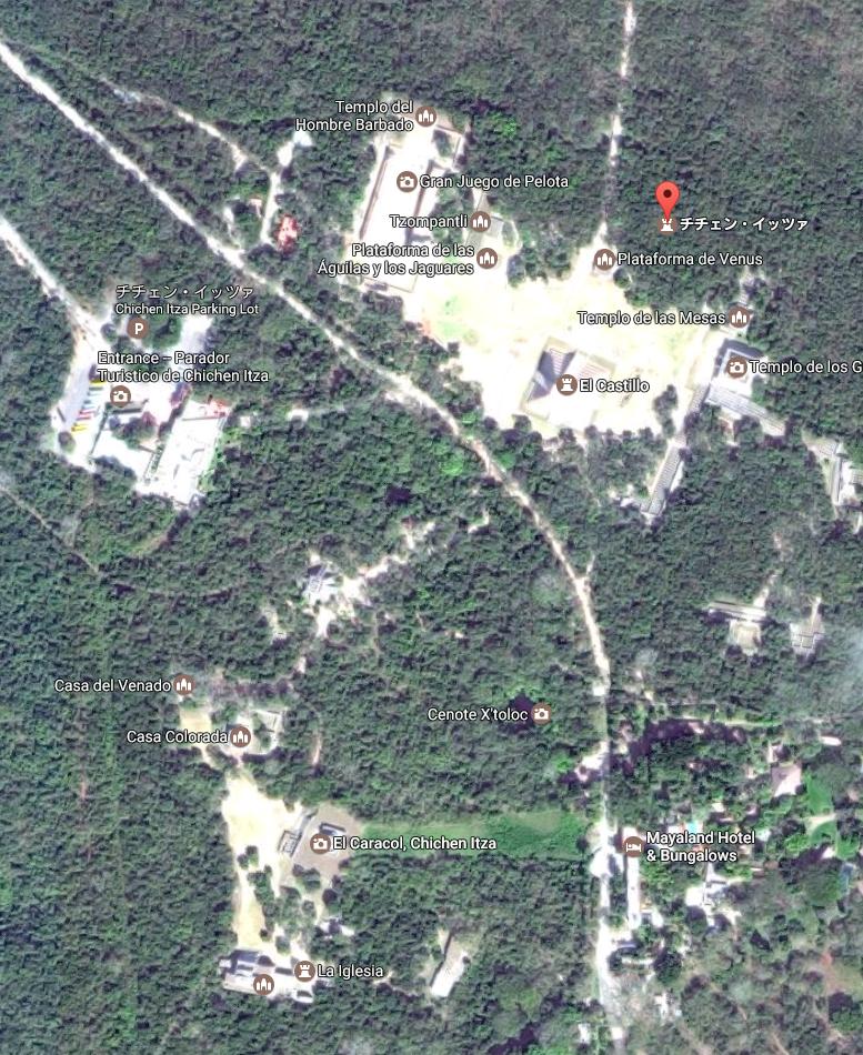 メキシコ チチェン・イッツァ遺跡 マップ