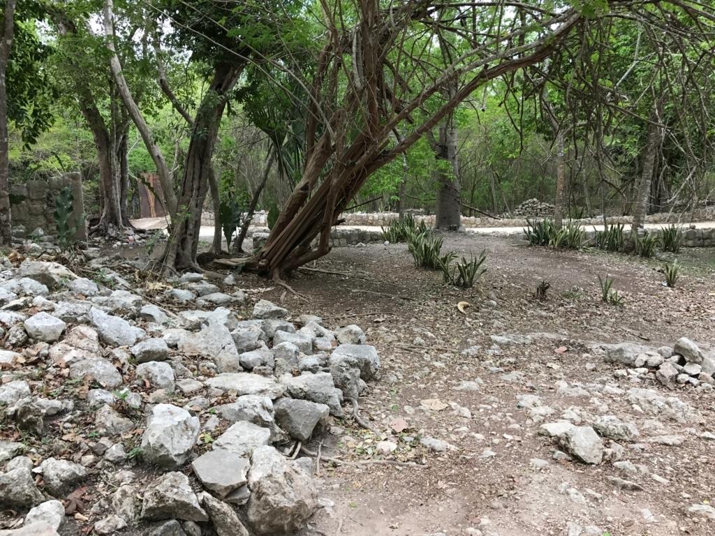 メキシコ チチェン・イッツァ遺跡 新旧境の壁