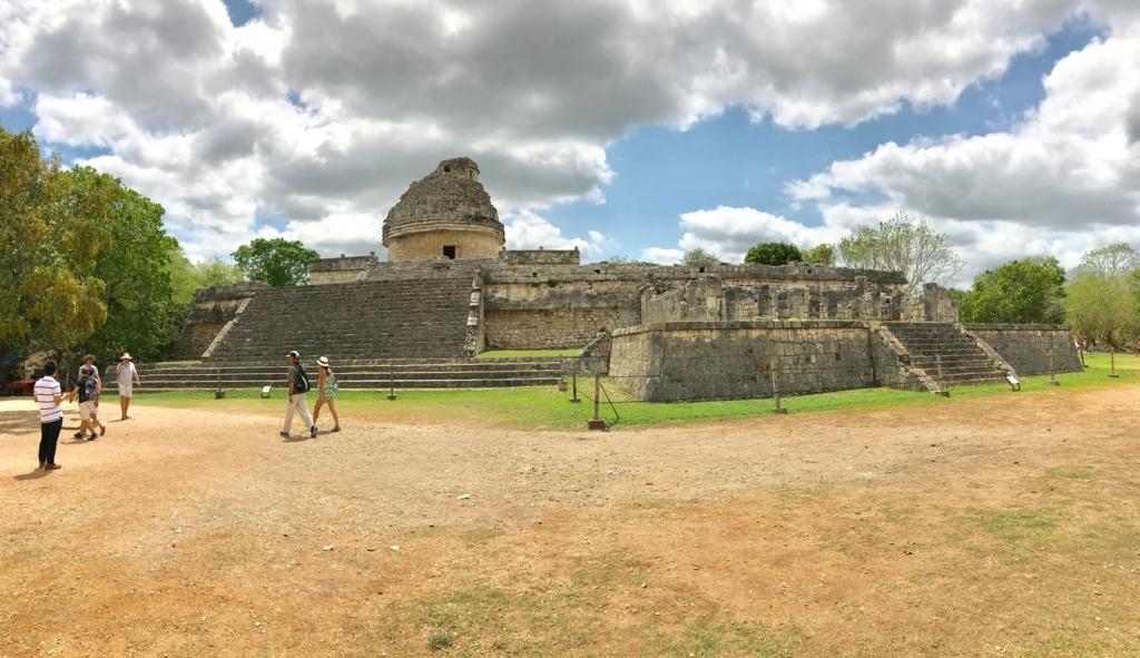 メキシコ チチェン・イッツァ遺跡 天文台 パノラマ
