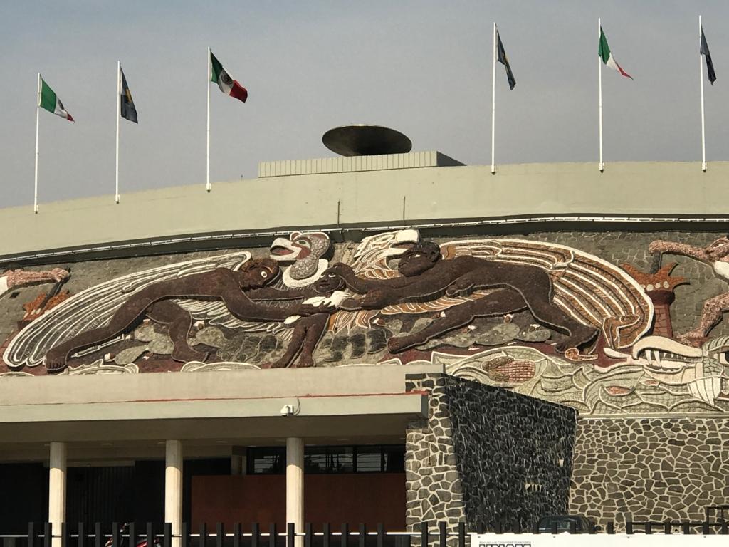 メキシコシティ オリンピックスタジアム 壁画