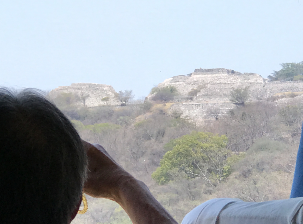 メキシコ 丘の上の ソチカルコ遺跡