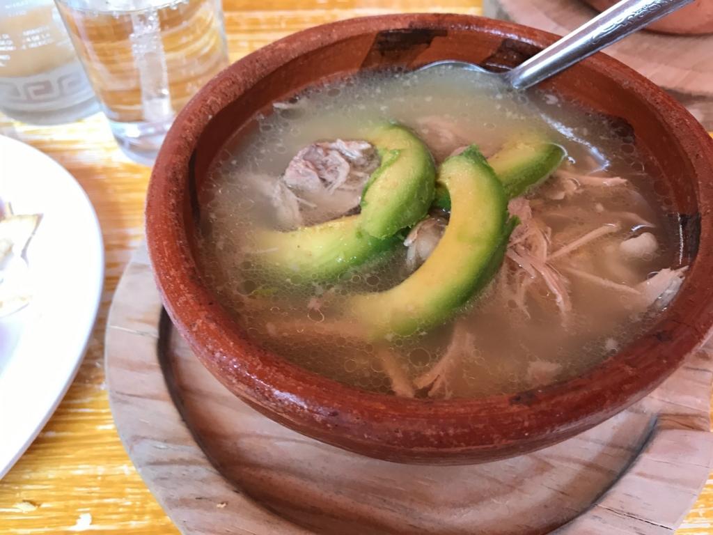 メキシコ クエルナバカ メキシコ料理店 EL Baruco メイン スープ料理「ボソレ」