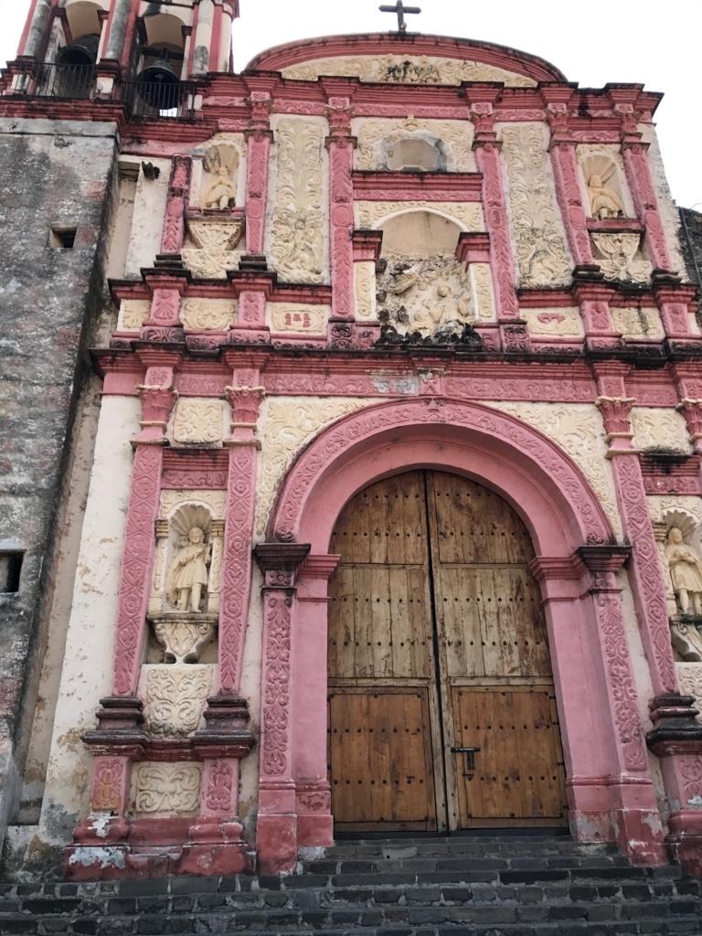 メキシコ クエルナバカ大聖堂 ピンクの教会